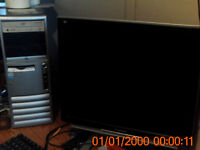 2.93 ghz computer,monitor,mouse 2 core