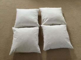 Feather cushions x 4