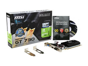 GeForce GT 730 N730K-2GD5LP/OC 2GB 64-Bit GDDR5 PCI E 2.0 x16