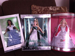 8 Collectable Barbie Dolls