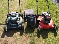 lawnmowers and some parts
