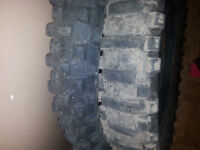 Two dirt bike tires for sale