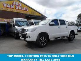 2015 15 TOYOTA HI-LUX 3.0 INVINCIBLE X EDITION 4X4 D-4D DCB IN PURE WHITE 1 OWNE