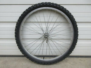 "26"" Alloy Front Bike Wheel -- with Tire & Tube"