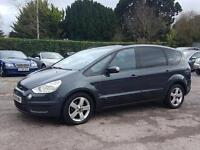 ONE LADY OWNER FORD S-MAX TITANIUM 2.0 TDCI 140 GREY 6 SPEED MANUAL 7 SEATER MPV