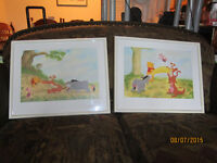 Set Of 2 Winnie The Pooh Glass Framed Wall Art Pieces