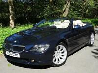 2006 06 BMW 630 3.0 i auto (258 bhp) Sport Convertible..12 BMW DEALER SERVICES!!