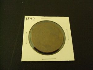 1842 Bank of montreal canadian penny