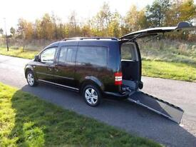 2011 Volkswagen Caddy Maxi 1.6 Tdi RARE BLACK Wheelchair Accessible Adapted WAV