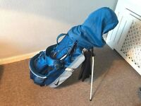 Nike golf bag and clubs