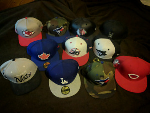 11 7 1/2 or snap back New Era/Huff/Mitchell and ness hats NEW