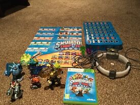 Skylanders Trap Team Xbox360 game, figures and poster.