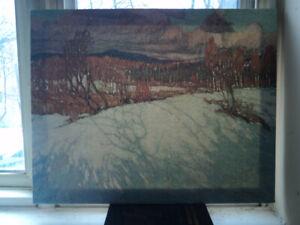 Numbered Tom Thomson Canvas print.