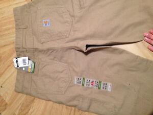 Fr carhartt pants and strip shirt never used