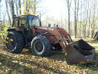 CASE 1494 WITH LOADER ATTACHMENT, 2 BUCKETS AND FORKS