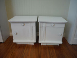 Two White Night Stand Dressers