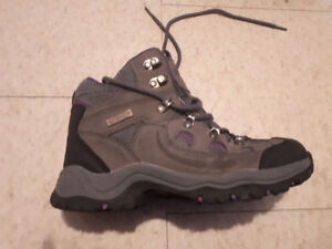 Gray and Purple hiking boots