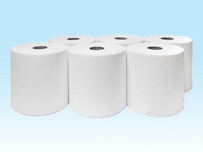 6 x Handtuchrollen 20 cm 2 lagig 140m Innenabrollung Papierrollen Handtuchpapier