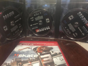 Skate 3 & Mass Effect Trilogy - Playstation 3 Games