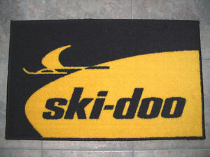 Decorative mats with Vintage snowmobiles logos + Ford & mustang