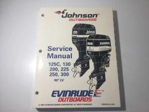 1995 Johnson Evinrude EO 125 -300 HP Outboard Manual V4 V6 V8 LV
