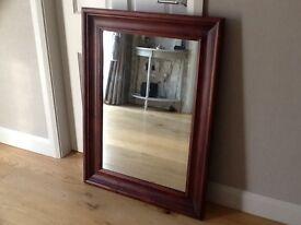 Solid mahogany mirror