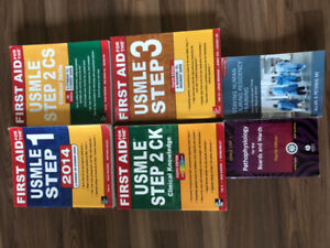 USMLE first aid books  1 + 2CS + 2CK+ 3  and 2 bonus books