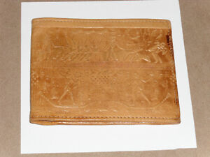 Very old authentic Egyptian Wallet w/ Hieroglyphic design