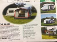Nr caravan awning complete with curtains