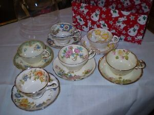 Six Collectible cups & saucers---One Lot