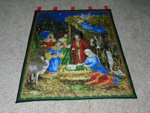 """New """"NATIVITY """" wall hangings == 3 available"""