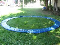 Trampoline pad and springs