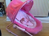 Baby bouncer in pink