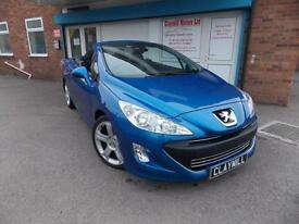 Peugeot 308 CC 2.0HDi (140bhp) FAP Coupe GT Diesel Manual Convertible Blue 2009