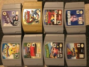 19 n64 games 250.00 firm