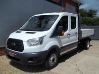 £ 72 A WEEK - 2015 FORD TRANSIT 2.2 DOUBLE CREW CAB 7 SEAT TIPPER TRUCK