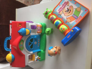 FRENCH Fisher Price toy lot (Francais)