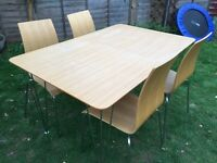 Retro bistro style extendable table and chairs