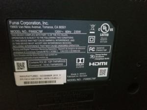 "4K UHD LCD SMART TV SANYO 65"" like new"
