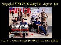 Autographed STAR WARS Vanity Fair Magazine