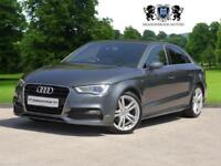 2014 14 AUDI A3 2.0 TDI S LINE 4D 148 BHP DIESEL, 1 OWNER WITH FULL AUDI HISTORY