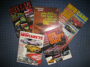 1972 New Car Buyers Guides.