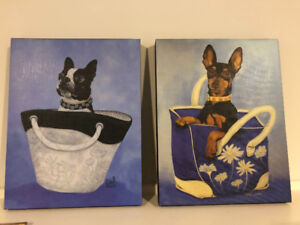 Cute dogs in purses paintings/prints