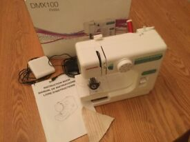Janome DMX100 mini sewing machine - great condition!