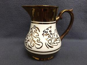 Collectible Antique Wade Heath & Co. Copper Lustre Milk Pitcher London Ontario image 3