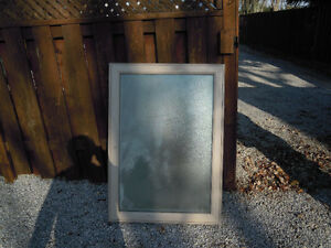 Windows,NEW,2 awning,31x44,obscure glass,sandalwood outside