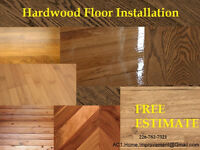 Hardwood & Laminate Floor Installation - Free Estimate Call Now.