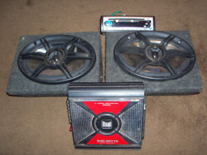car stereo.with amp and speakers.