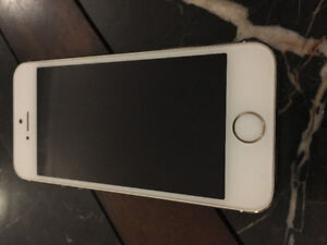 Gold iPhone 5S 16GB  w/charger & case