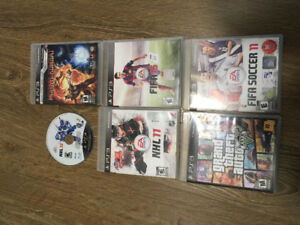 Play Station 3 with 6 games